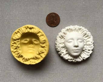 Custom Silicone Flower and Face Mold and Cab Clay Face set