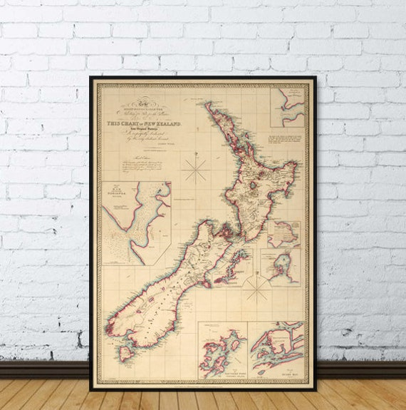 Old map of new zealand large wall map of new zealand gumiabroncs Image collections