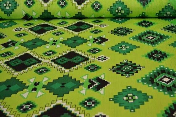 Grüner Baumwollstoff geometrische Stoff durch den Hof Nähen