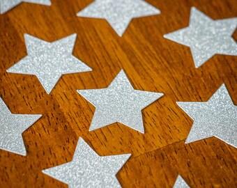 Silver Glitter Star Confetti