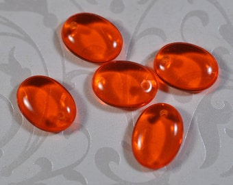 Orange glass  drilled beads, 12mm, #954