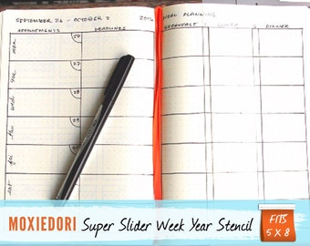 Super Slider Bullet Point Journal Stencil, Fits 5x8 journals such as Moleskine and Leuchtturm