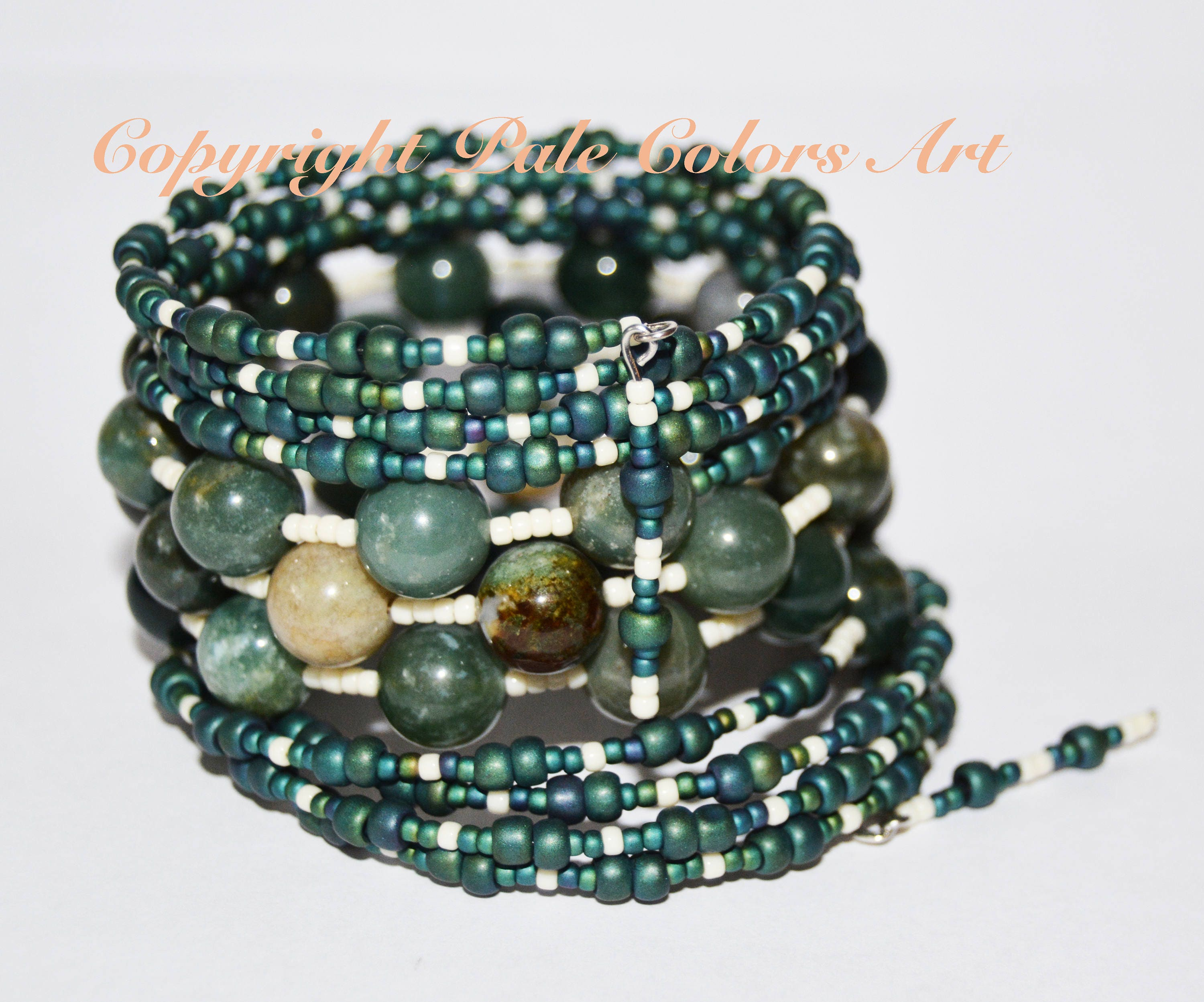 pin stretch beaded round more green stone bracelet for agate moss