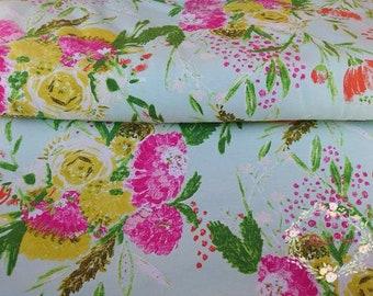 Summer Bouquet Clear Cotton Jersey - Art Gallery Fabric