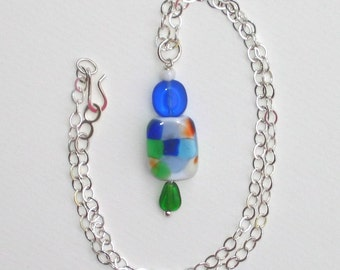 Lampworked Glass Pendant Necklace No. 3