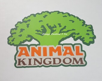 Animal Kingdom Title, Disney Diecut, paper piecing for scrapbooking