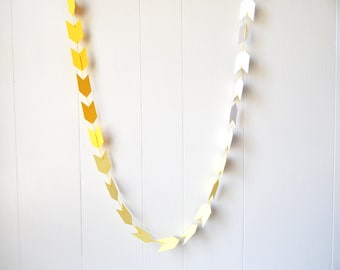 Ombre Arrow Garland / Ombre Arrow Bunting in Yellow