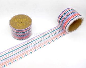 Triangle Mosaic (Pastel) Masking Tape - World Craft