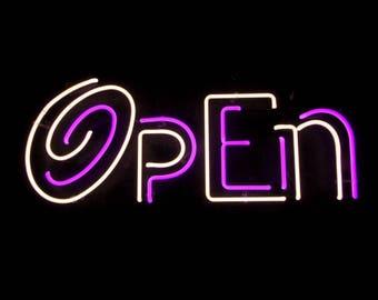 Custom Neon Open Sign