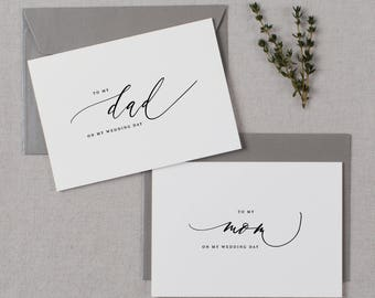 Wedding Card To My Mom On My Wedding Day, To My Dad On My Wedding Day, To My Parents Wedding Card, To My Mom, Wedding Card, 2 Cards, K6