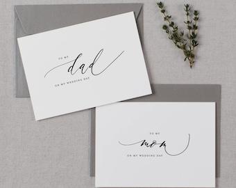Wedding Card To My Mom On My Wedding Day, To My Dad On My Wedding Day, To My Parents Wedding Card, To My Mom, Wedding Card, 2 Cards, K6