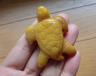 Lovely Yellow Quartz Turtle Totem! sea turtle carving gemstone animal, totem turtle spirit animal, quartz turtle carving #3252