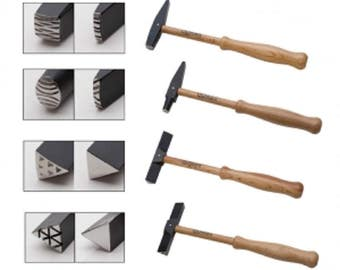 WUBBERS Set of 4 Artisan's Mark Texturing Hammers