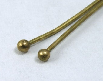 Antique Brass 2 inch Head Pin with Ball  HPE016