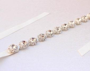 Thin Bridesmaid belt  bridesmaid sash Crystal rhinestone belt bridal belt Bridal headband  beaded belt for wedding dress  holiday gift