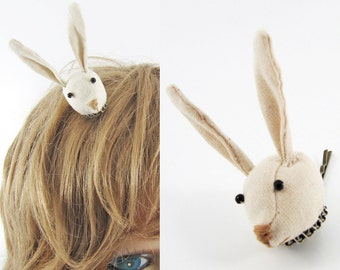 MADE-TO-ORDER ( 1 - 2 Weeks) Bunny Hair Clip-Unbleached chic