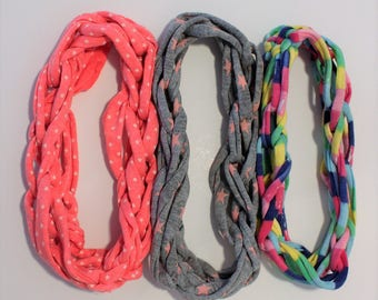 Hair ribbons for cotton in cheerful colors