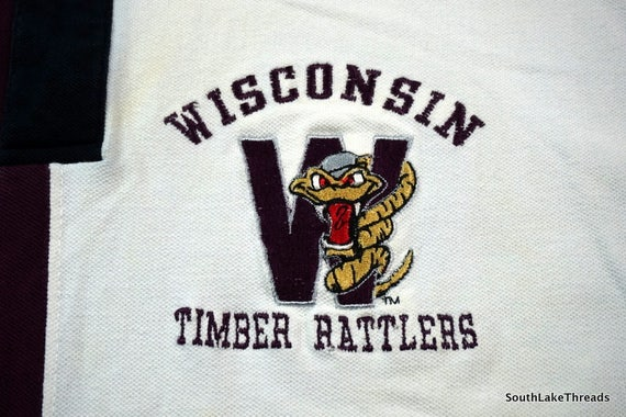 Vintage 90s Wisconsin Timber Ratterss Polo Shirt