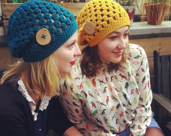 PATTERN:  Decatur Street Hat, easy crochet PDF InsTanT DownLoaD, slouch beanie, adult, teen, fall winter autumn, Permission to Sell