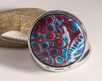 mokume gane polymer clay Keychain Pocket ashtray
