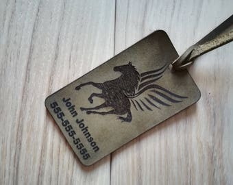 Personalized tag Leather luggage tag Handmade luggage tag Luggage tag Leather tag Custom luggage tag Handmade leather Leather gifts Travel