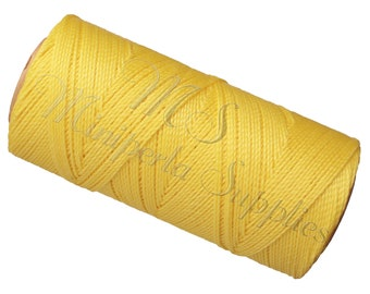 Spool of thread macramé waxed Linhasita - yellow