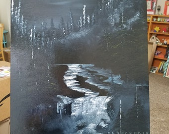 Evening at the Falls 16x20 (Bob Ross Inspired)
