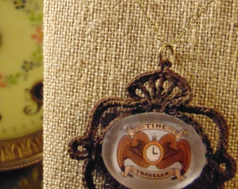 Time Traveler's Crest Lace Cameo Necklace