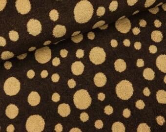 Wellnessfleece Brown with light brown dots (8.90 EUR/meter)