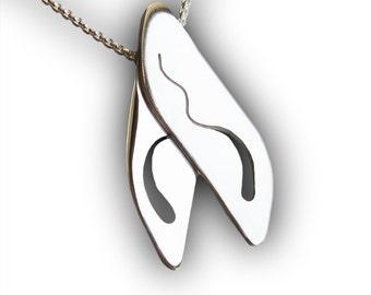 Wispy Wings, Silver Jewelry, Sterling Silver Pendant, Silver Wings.