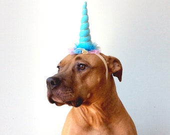 Dog Unicorn Headband, Unicorn Horn, Dog Unicorn Hat, Unicorn Headband, Dog Birthday Hat, Dog Birthday, Dog Hat, Dog Party Hat, Unicorn Horn
