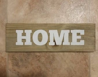 Wooden HOME Sign, Wall Decor, Primitive Home Decor, Naturalistic, Farmhouse Chic, Country Chic, Rustic,