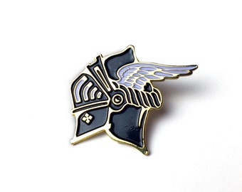 Knight Enamel Lapel Pin