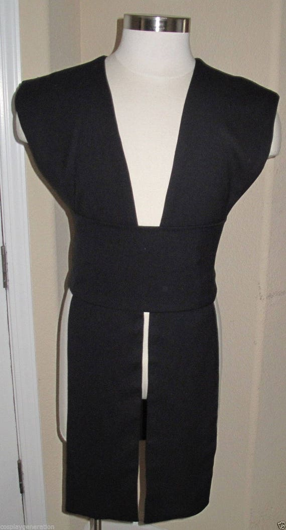 Black  poplin fabric tabards with sash in several sizes