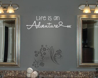 Life is an Adventure - Wall Decals - Wall Decal - Wall Vinyl - Wall Decor - Decal - family Wall Decal - motivational sayings