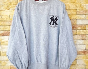 New york yankees small logo embroidered crewneck sweatshirts LL size baseball team hip hop rappers swag style