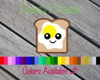 Cute Toast with Egg Decal