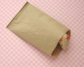 4x6 Kraft Bags 100 qty - Recycled Paper, Recyclable, Printable 4 x 6 inches