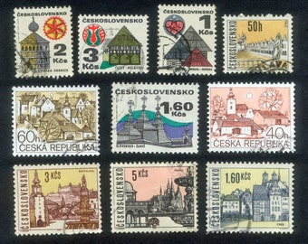 10 Beautiful Building Stamps from The Czech Republic and Czechoslovakia