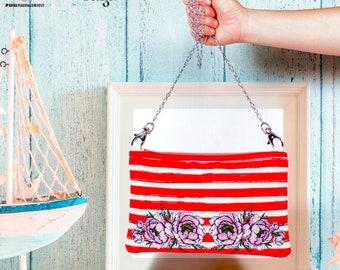 Stripes & Flowers Mini Bag