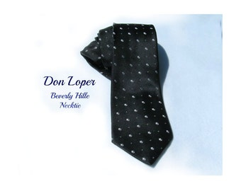 Men's accessories , necktie men's - Black tie -  suit tie, designer tie,  gift for men, Don Loper necktie -   # T 63