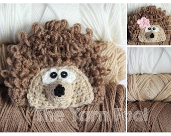 Crochet Hedgehog Hat - Newborn, Infant, Toddler, Youth, and Adult Sizes