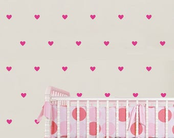 Heart Wall Decal   Confetti Hearts Decals   Set Of 170   Confetti Decal    Nursery