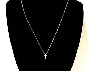 Silver Cross Necklace - Inspiration - Christian - Faith - Dainty/Simple Jewelry