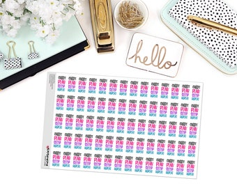 COFFEE, PLAN, REPEAT Paper Planner Stickers