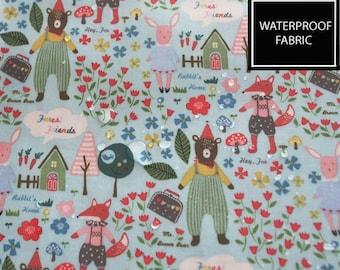 LAMINATE WATERPROOF Fabric, Story book , by Yard