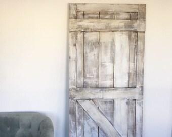 Shabby Chic White Barn Door, Rustic White Barn Door
