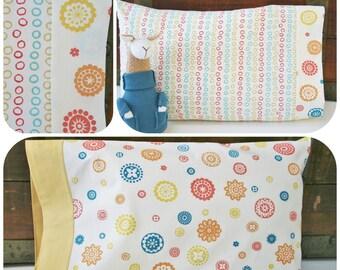 Organic Toddler Pillowcase, Organic Travel Pillowcase, Kids, Gift for Her, Gift for Toddler Girl, Ready to Ship, Organic, Toddler Bedding