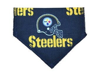 Black Pittsburgh Steelers Pet Collar Bandana (for cats + dogs under 10 lbs)
