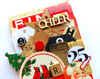 Rustic Christmas Ephemera Pack / 40+ Pieces / Daily Planner / December / Junk Journal / Gift Tags